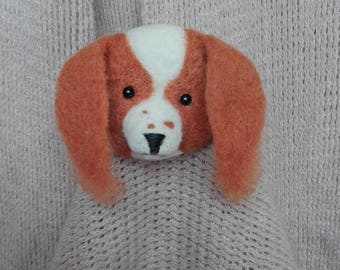 Brooch puppy dog -  artist brooch,  miniature brooch,  needle felt brooch, Blythe, art brooch