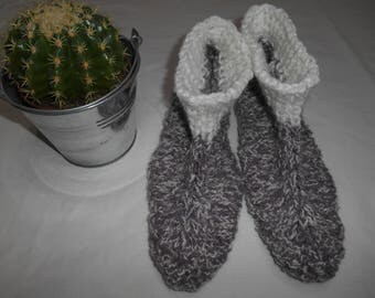 adult indoor relaxed knitted handmade slippers