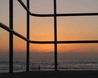 Lifeguard Sunset Photograph