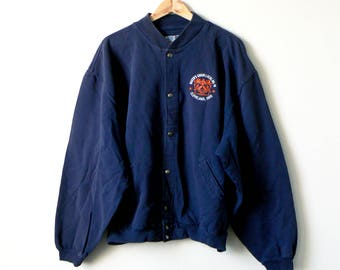 80s Bakers' Union Bomber Jacket - 80s Jacket - 80s Sweatshirt - Vintage Sweatshirt - Cleveland Ohio - AFL-CIO - 80s Bomber - Men's 2XL