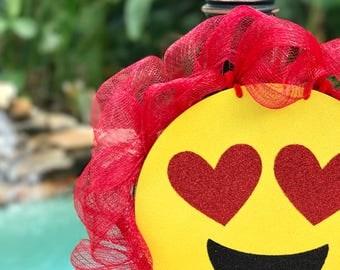 Heart Eyes Emoji Wreath