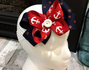 Double layer bow with headband