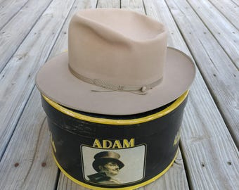 Vintage 1950s men's fedora hat Open Road Stratoliner Adam  size 6 7/8