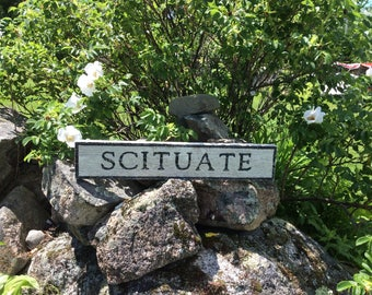 Scituate wood sign