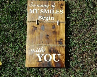 Wooden Sign/Photo Holder