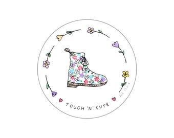tough 'n' cute sticker