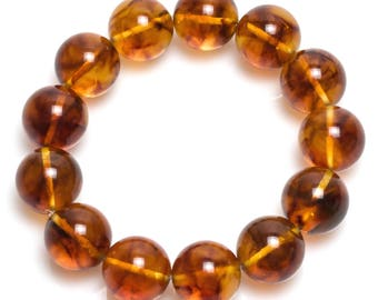 baltic amber bracelet 28gr cognac color Luxamber 琥珀手链