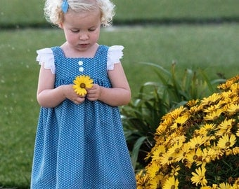 Daisy Doo Dress, Girls Dress, Baby Dress, Toddler Dress, Handmade dress, Handmade girls dress, First birthday, Girl Gift, Girl present