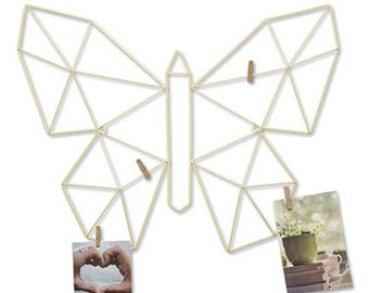 Butterfly-shaped metal frame 50X4X40 cm