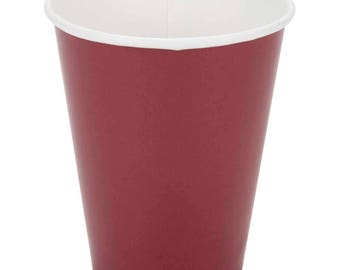 50 Ct Burgundy Poly Paper Cups 9oz Hot/Cold, Party Supplies, Wedding Supplies, Party, Wedding, Paper Cups, Gold, Beverage Cups, Cups