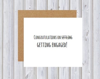 Congratulations on settling/getting engaged! Card - Wedding/Engagement 5 card