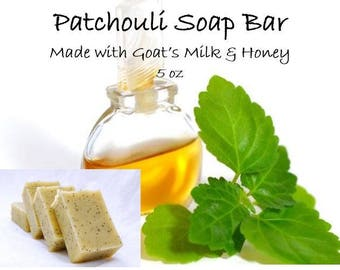 Patchouli Soap Bar, Goat's Milk and Honey 5 oz