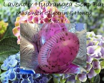 Lavender Soap; Honey Soap; Lavender; Glycerin; Hydrangea Soap Bar; Honey Soap Bar; Glycerin Soap Bar 4 oz