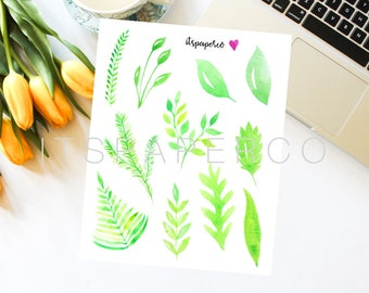Bright Leaves Stickers - Bullet Journal - Planner Stickers - Decorative Stickers - Illustrated Stickers - WL005
