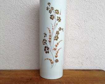 """Midcentury 60 Cylinder porcelain vase Alka Kunst Alboth & Kaiser Bavaria """"Parade"""""""