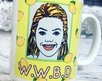 Beyoncé what would Beyoncé do novelty hand illustrated mug. 325ml