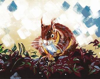 Squirrel (A4 print)