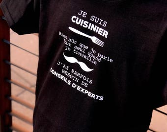 T-shirt Cook - gift kitchen - Cook - Chef - father's day - chef gift - pastry gift - gift for coworker - kitchen