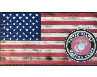 19x36 Marine Corps American flag