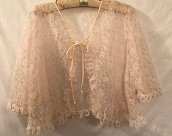 Full lace ivory Bed Jacket