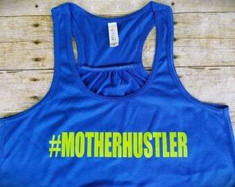 Special listing for Heather - Mother Hustler shirt- Fancy shirt - Gold foil shirt - Flowy  Tank- Busy Mother - Tank top - Crazy Mother shirt