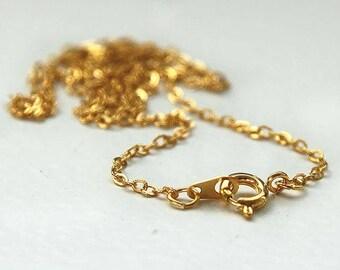 Full gold chain gold 14 K - 40cm chain