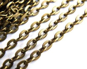 PROMOTION chain metal bronze 1 meters