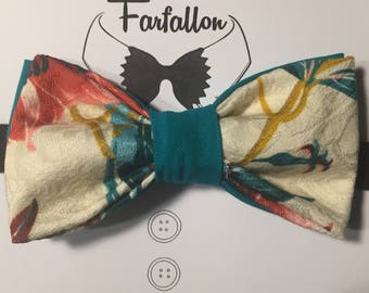 Double floreal papillon/bow tie for man