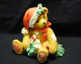 Cherished Teddies Denise December Bear Happy Holidays Friend 1993 914878 Boxed