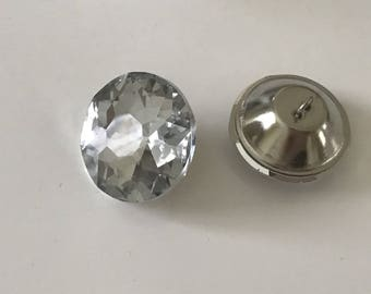 Button 30 mm Crystal for cushions or padded a headboard etc...