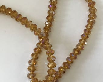 Golden Crystal faceted 8 mm for creation
