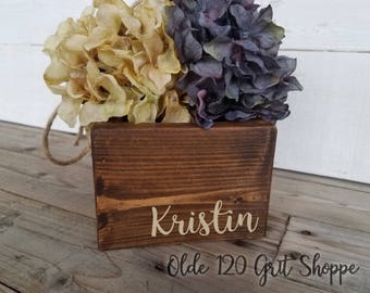Rustic Wedding Flower Girl Basket, Flower Girl Basket,,Flower Girl Box, Personalized Basket, Custom Flower Girl Basket, Vintage Wedding