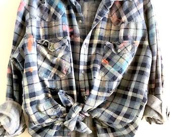 Vintage Grunge Style boho Spring Flannel size Men's L