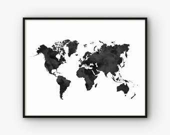Milan map print milan print milan poster milan wall art watercolor world map print world map wall art printable wall art world map gumiabroncs Image collections