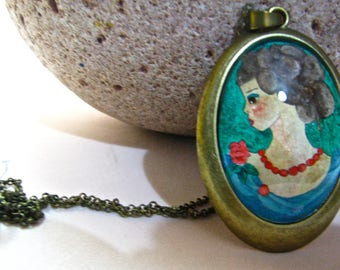 PAINTED LADY CAMEO Necklace