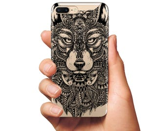 Wolf case iPhone case silicone clear case Samsung case iPhone 6 case wolf cover Samsung S7 Edge case Samsung S7 case iPhone 7 case Plus case