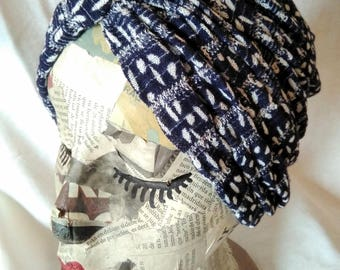 Dark blue turban