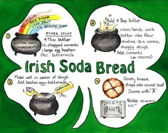 Irish Soda Bread- illustrated recipe