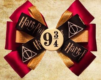 Harry Potter 9 3/4 Hair Bow