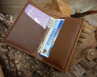 Light brown minimalist leather wallet, Leather Card Holder, Minimalist leather wallet