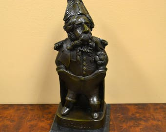 Pure Bronze Napoleon Statue-With Marble Base