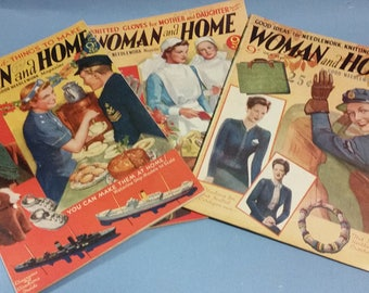Vintage Woman and Home Magazines (1942), Two Available