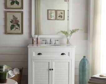 White Glennville 34 Inch Bathroom Vanity GD 28667W 34