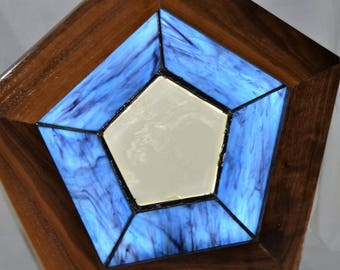 LED back lit stained glass picture frames