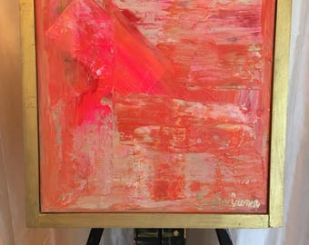 12x12 Pink Abstract, Abstract Painting
