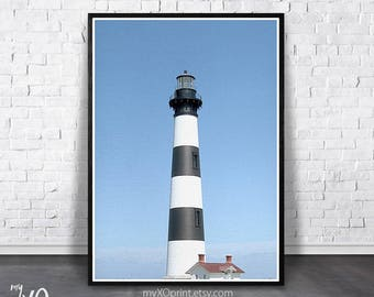 Lighthouse Print, Father's Day Gift, Coastal Wall Art, PRINTABLE Coastal, Nautical Beach Print, Lighthouse Photo, Nautical Wall Decor, Sea