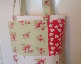 Tote bag-floral tote-cotton tote bag-floral tote bag-shopping bag