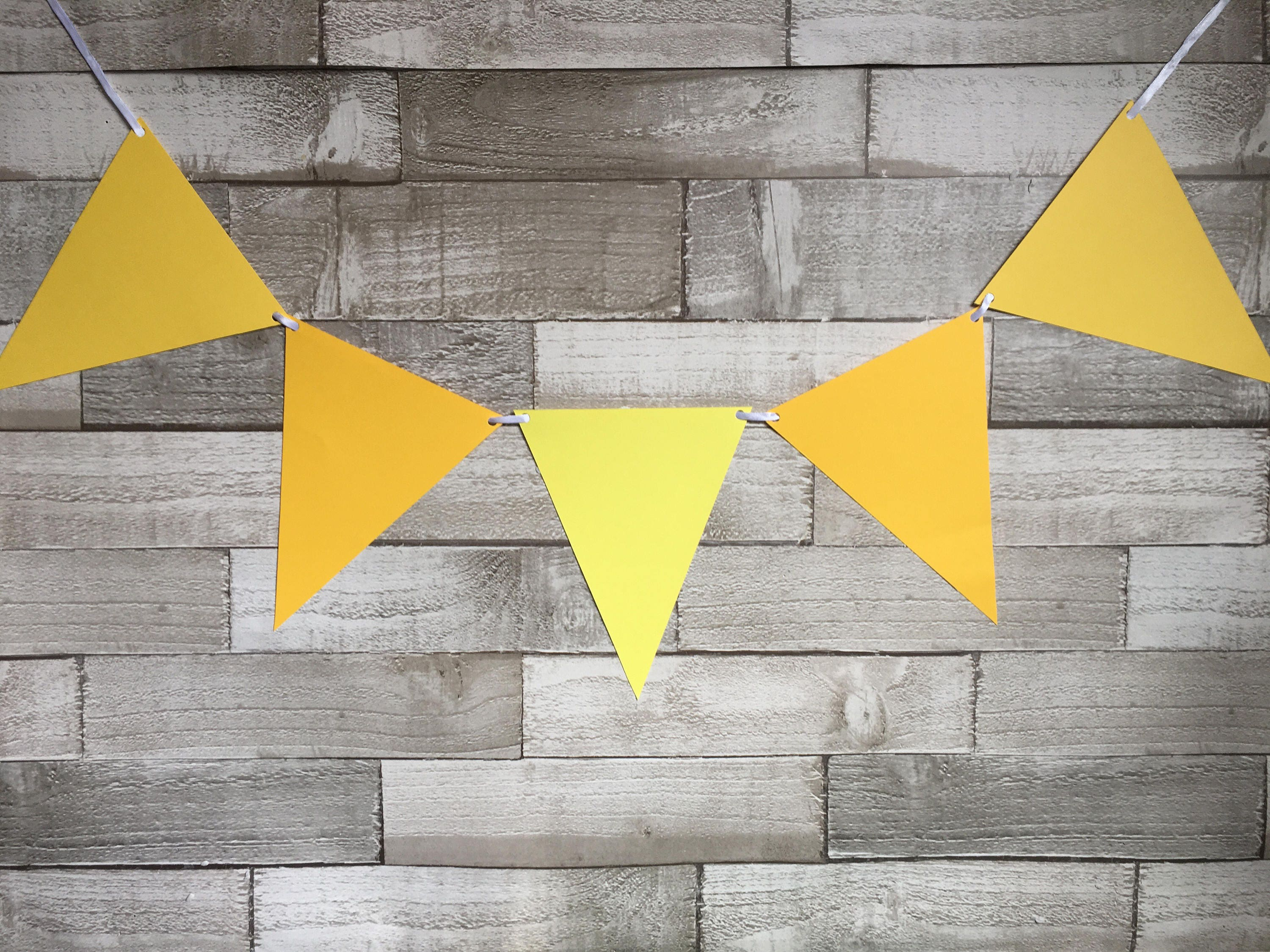 Yellow bunting, party bunting, bbq bunting, garden party, festival ...