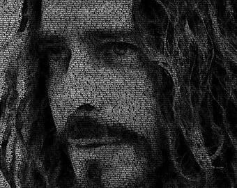 Word Art Canvas - Chris Cornell