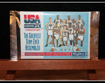 1992 Skybox USA Olympic Dream Team Factory Sealed Trading Cards, USA Basketball Collector Cards, Greatest Team Ever Assembled, NBA Cards